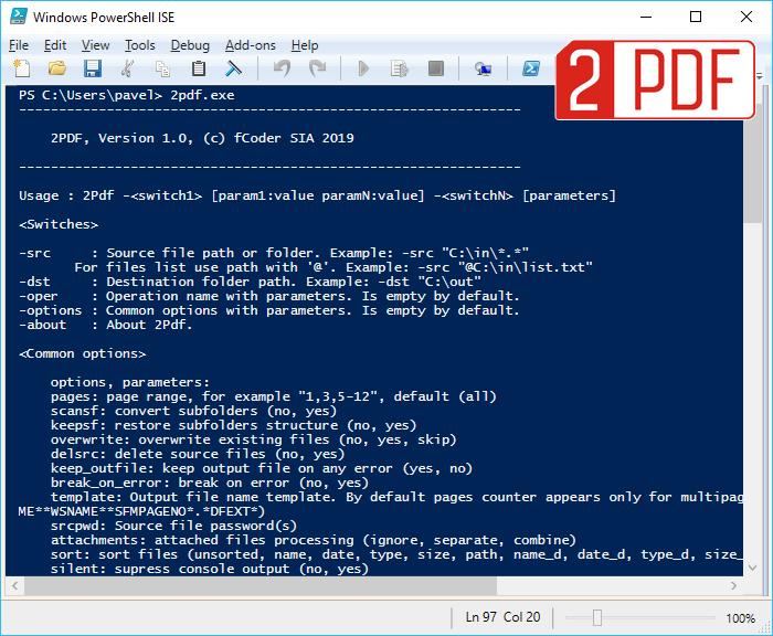 Befehlszeilen-Konverter 2PDF kann alle Dateien aus einer Liste in ein mehrseitiges PDF speichern