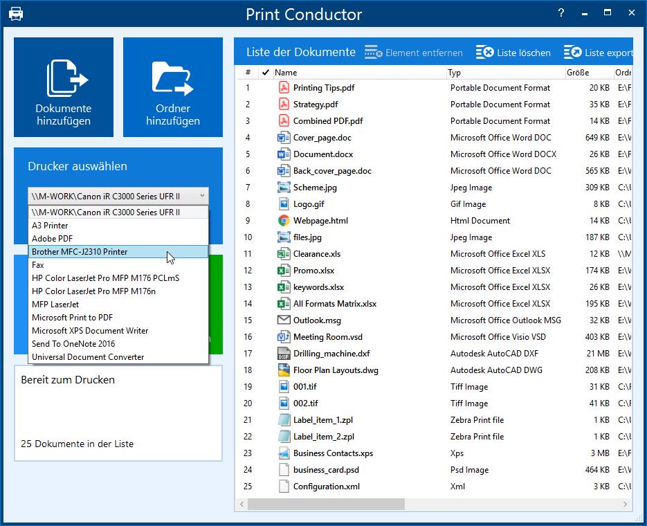 Multiformat-Dokumentendrucksoftware Print Conductor 7.0
